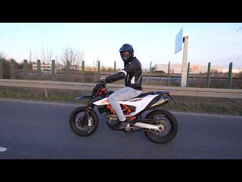 LOUD KTM 690 SMCR 2019 Arrow Tuning Exhaust Sound Acceleration Flyby Without DB Killer Quickshifter