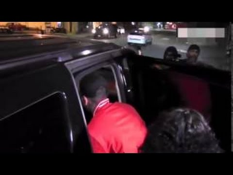Watch Moment Karrueche Tran's Friends Try To STOP Chris Brown Getting In Car With Her (VIDEO)
