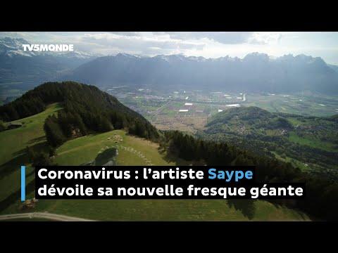 Coronavirus: l'artiste Saype dévoile sa nouvelle fresque géante
