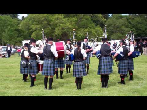 Bagpipes And Drums Glamis Castle Angus Scotland