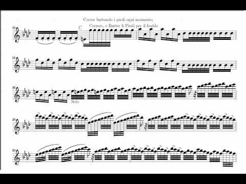 Inverno (Mov 1)   Vivaldi  (www.sheetmusic-violin.blogspot.com)