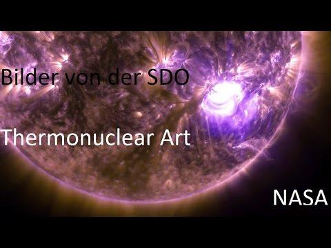 Bild von Sonne |Ultra HD 4K |Satellit: Solar Dynamics Observatory: SDO |Thermonuclear Art NASA