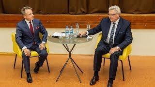 Bauer kontra Szymalski. Debata kandydatów na stanowisko burmistrza
