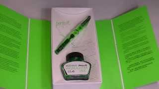 Pelikan M205 Classic Duo Highlighter Fountain Pen in Green