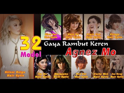 32 Gaya Rambut Keren Agnez Monica yang selalu jadi trend anak muda