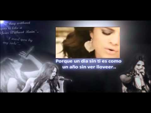 Selena Gomez & The Scene - Un Año Sin Ver Llover Karaoke/Instrumental [Edited Version]