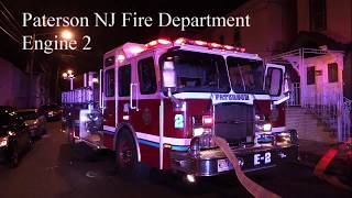 Paterson NJ Fire Department Engine 2 Responding Union Ave to West Broadway Oct 17th 2017