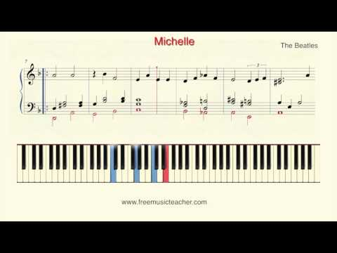 "How To Play Piano: The Beatles ""Michelle"" Piano Tutorial by Ramin Yousefi"
