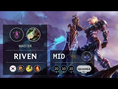 Riven Mid vs Sylas - KR Master Patch 9.19
