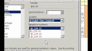 Microsoft Office Excel 2003 Add or remove a currency symbol