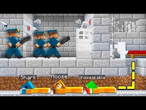 PRISON ESCAPE IN MINECRAFT! (FT. UnspeakableGaming, MooseCraft, 09sharkboy)