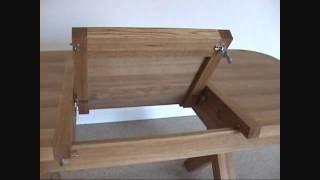 1.3 - 1.8m Cross Leg Oval Provence Oak Dining Table