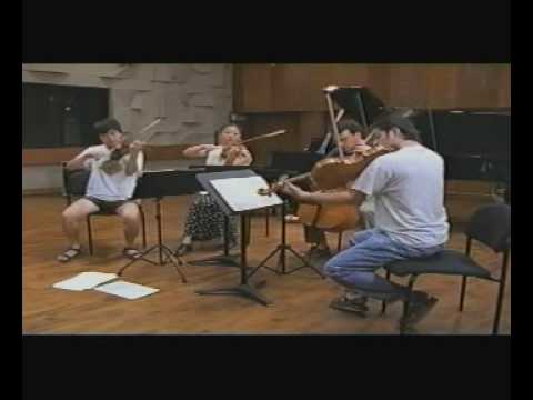 Miro Quartet coached by Isaac Stern