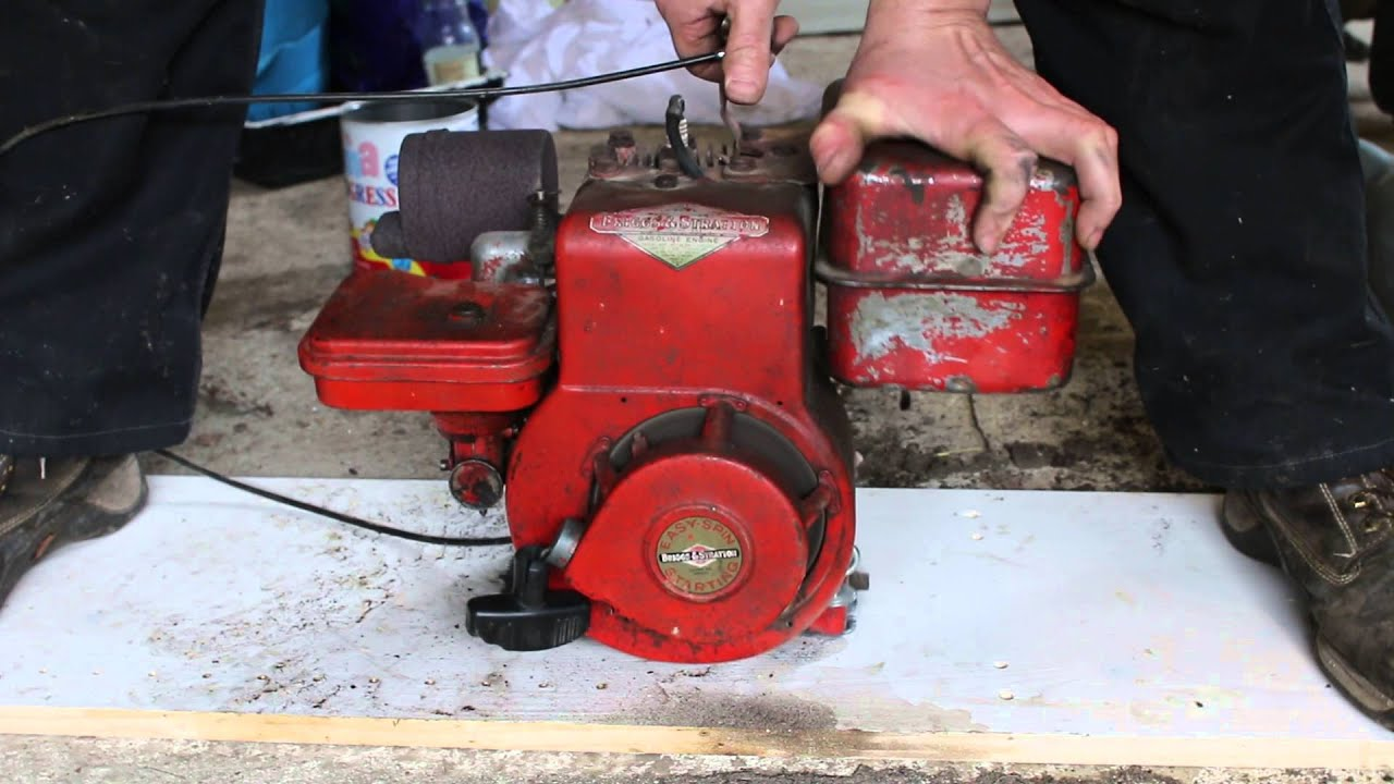 Briggs   Stratton    Engine    from Merry Tiller  YouTube