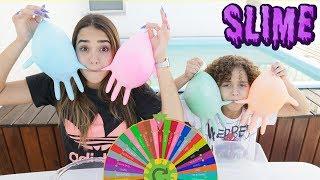 DESAFIO DA ROLETA MISTERIOSA DE SLIME!!! (Mystery Wheel of Slime Challenge!)