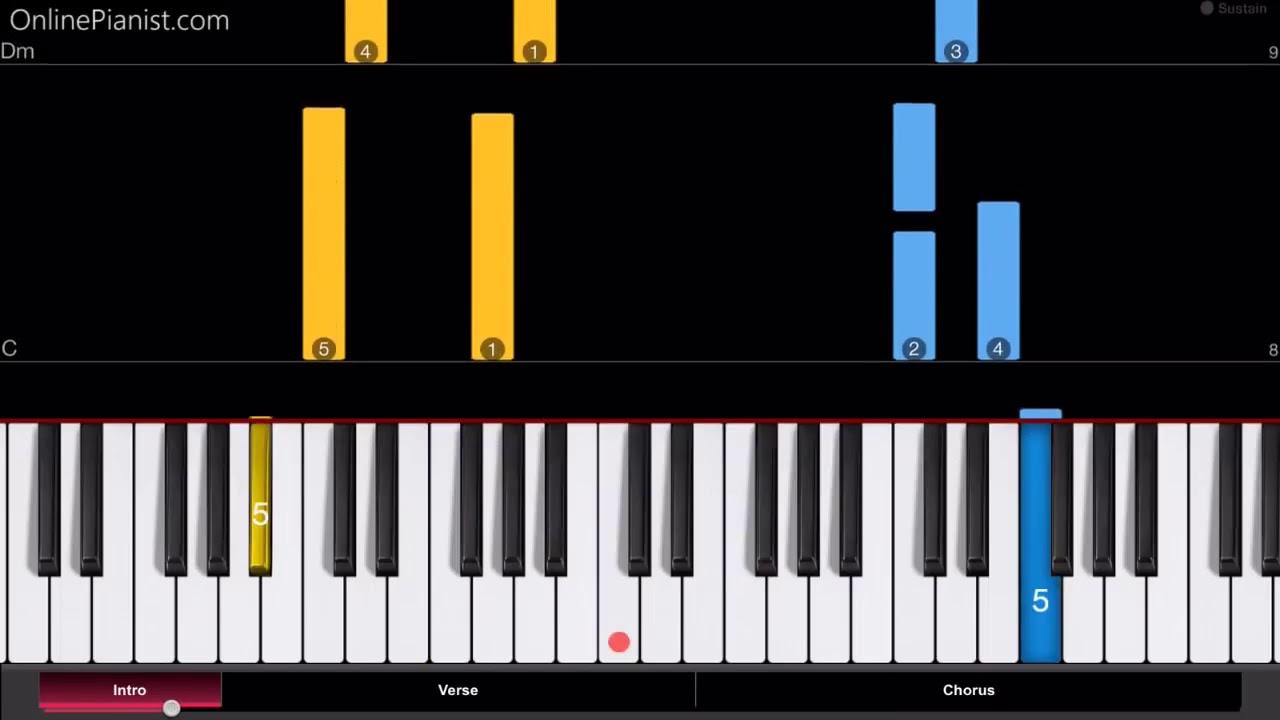 Играть на пианино ноты в картинках