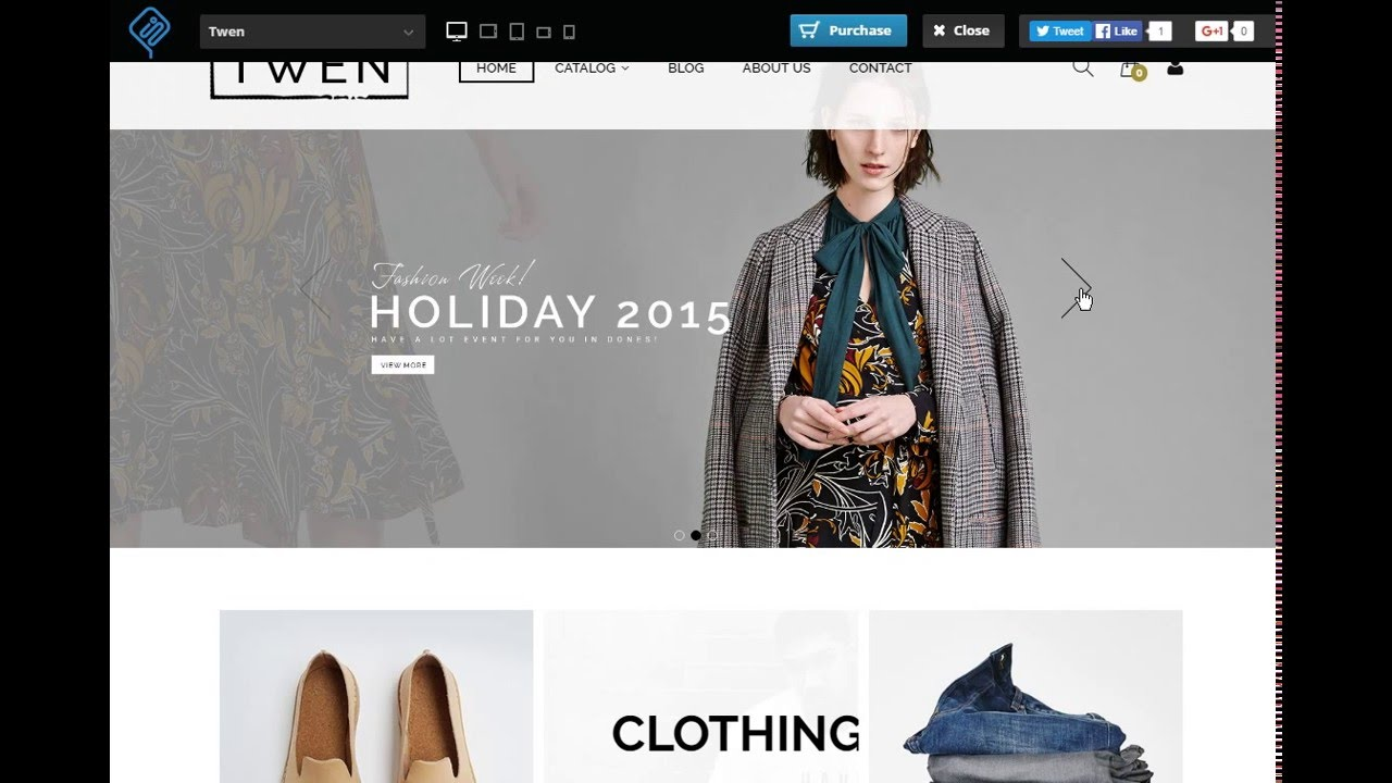 Download free Twen Responsive Fashion Shopify Theme with source code