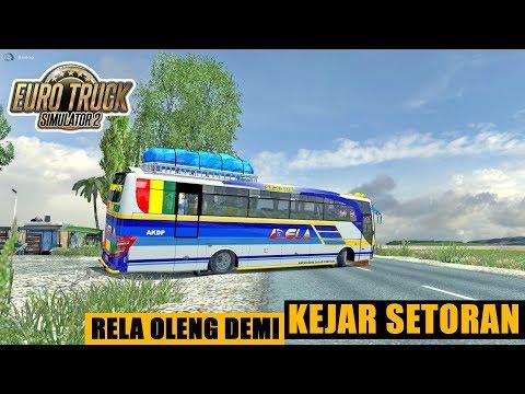 Bus RELA Oleng Di Jam Mepet - ETS2 Mod Indonesia - 동영상