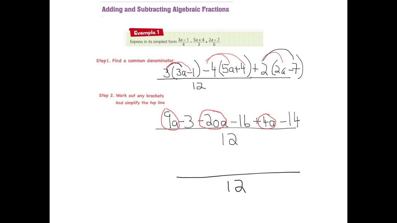 Xy Factor Algebraic Fractions Video