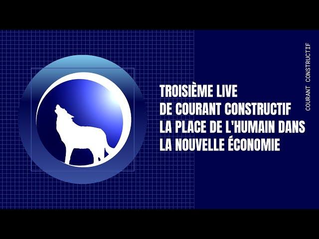 Troisième live de Thierry sur la place de l'humain dans la nouvelle économie.