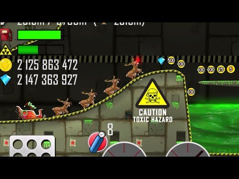 Hill Climb Racing - Sleigh in Nuclear Plant Walkthrough - GamePlay - 동영상