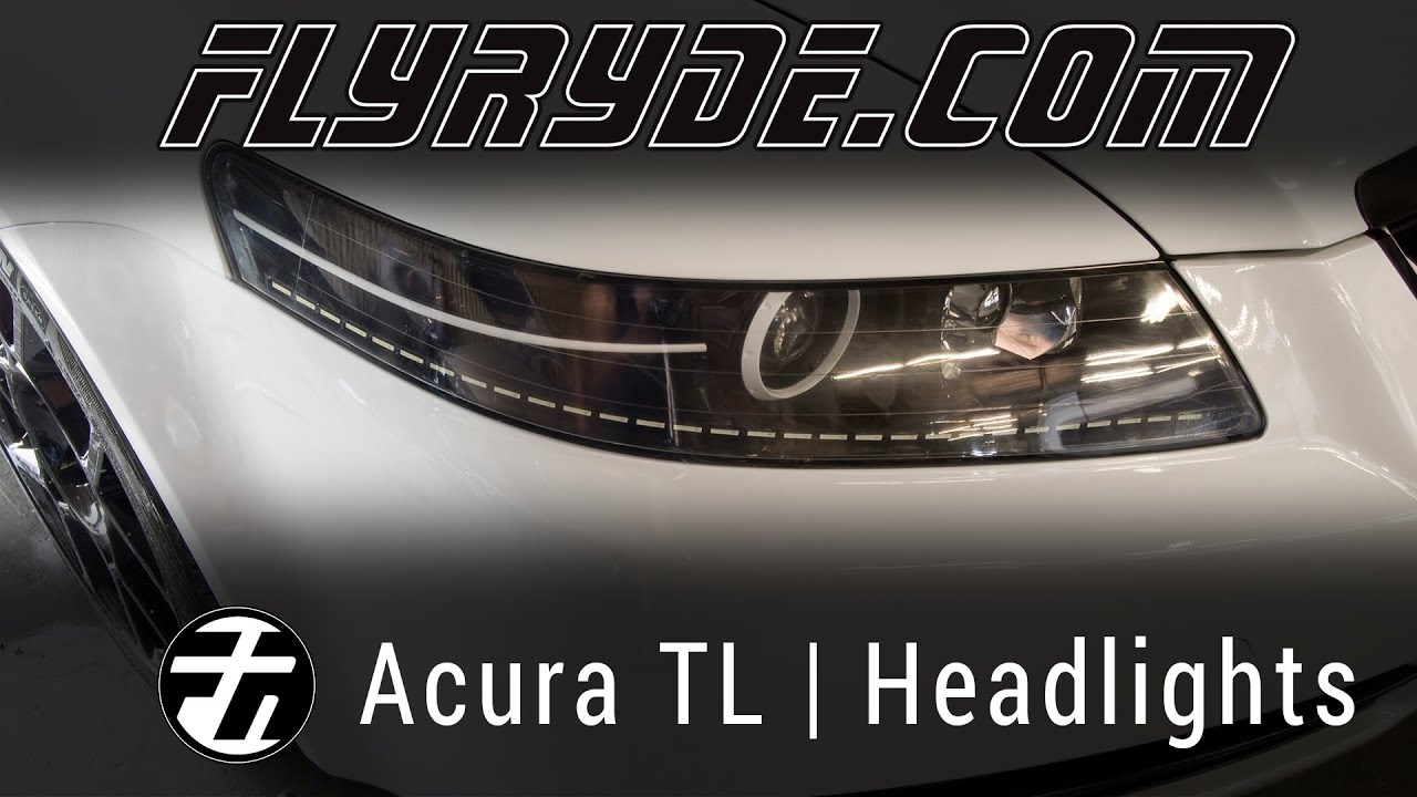 Acura TL Headlights With Power LED Strips And Custom Paint YouTube - Acura tl aftermarket headlights