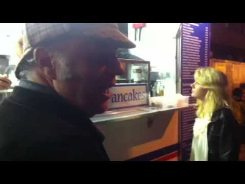Post-Show in Edinburgh - Eddie Pepitone wants a crepe (iPhone video)