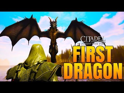 SLAYING OUR FIRST DRAGON! - Citadel: Forged with Fire Gameplay #3