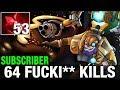 OP TINKER - Subscriber Plays Tinker With 64 KILLS - Dota 2