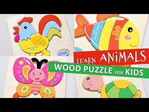 Roaster, Fish, Butterfly, Tortoise - Wood Jigsaw Puzzles For Kids
