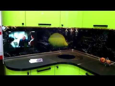 ТВ Фартук зелёная кухня