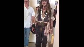 Johnny Depp Surprises Fans as Captain Jack Sparrow in Tahiti 🌺
