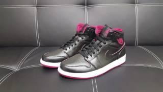 NIKE Air Jordan 1 Black Red Sneaker DEUTSCH l Review l On Feet l Overview  ... 6c54be98c
