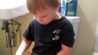 Potty training Liam