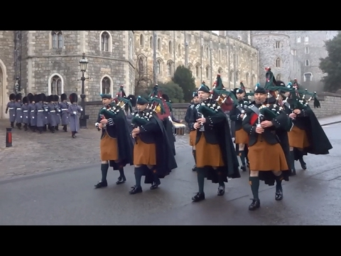 Changing the Guard at Windsor Castle - Friday the 10th of February, 2017