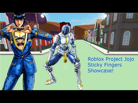 Roblox Project Jojo Sticky Fingers Showcase! - YouTube