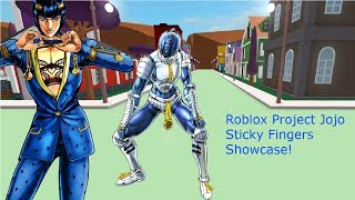 Roblox Project Jojo Sticky Fingers Showcase!