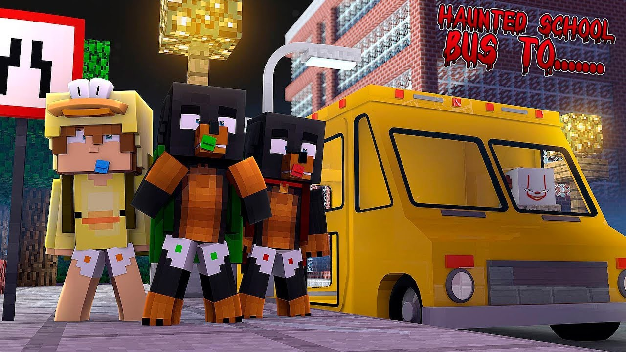 minecraft my haunted school bus to penny wise it