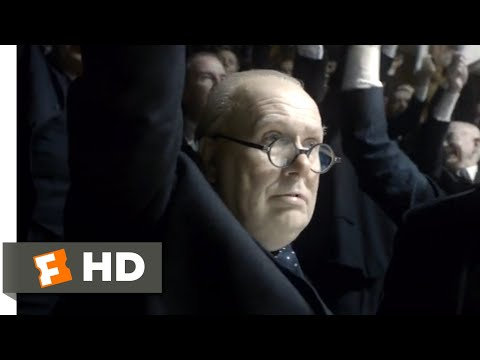 Darkest Hour (2017) - We Shall Fight on the Beaches Scene (10/10) | Movieclips