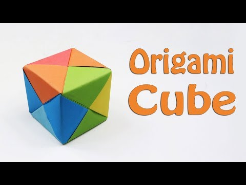How to Fold an Origami 3D Cube - DIY Paper Cube Instructions