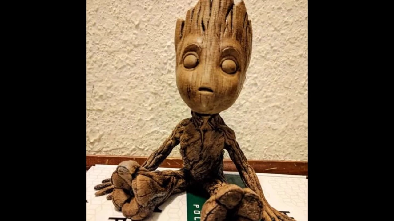 I 3d Printed A Wooden Baby Groot 3d Printer Reviews And Information