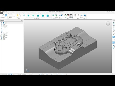 PowerMill 2018 Getting Started - Tutorial 1 - User Interface and Part Preparation