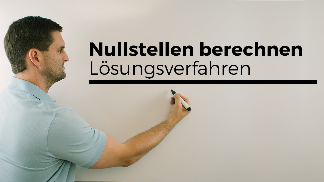 nullstellen berechnen l sungsverfahren bersicht mathe by daniel jung youtube. Black Bedroom Furniture Sets. Home Design Ideas