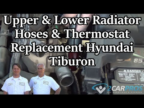 Upper  Lower Radiator Hoses  Thermostat Replacement Hyundai