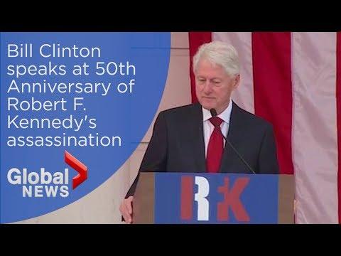 Bill Clinton speaks at 50th Anniversary of Robert F. Kennedy's assassination