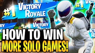 HOW TO GET MORE SOLO WINS IN FORTNITE BATTLE ROYALE! | Fortnite Tips & Tricks Ep.12
