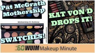 KVD Drops the Saint + Sinner Palette & MORE! + Pat McGrath Mothership Swatches! | Makeup Minute