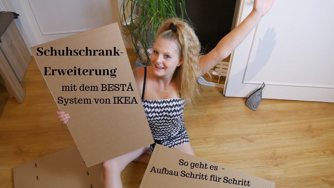 Schuhschrank Erweiterung Mit Dem Besta System Von Ikea Aufbau
