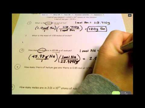 HChem - Unit 6A - Mole Conversions for Elements 1 of 2