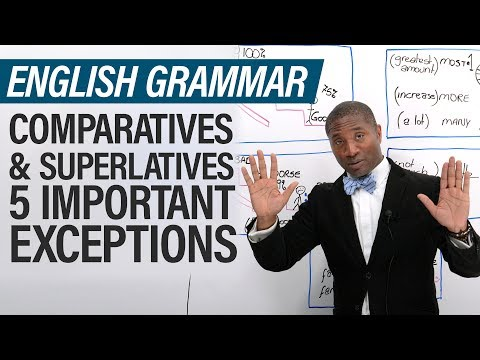 English Grammar Exceptions: Superlative & Comparative